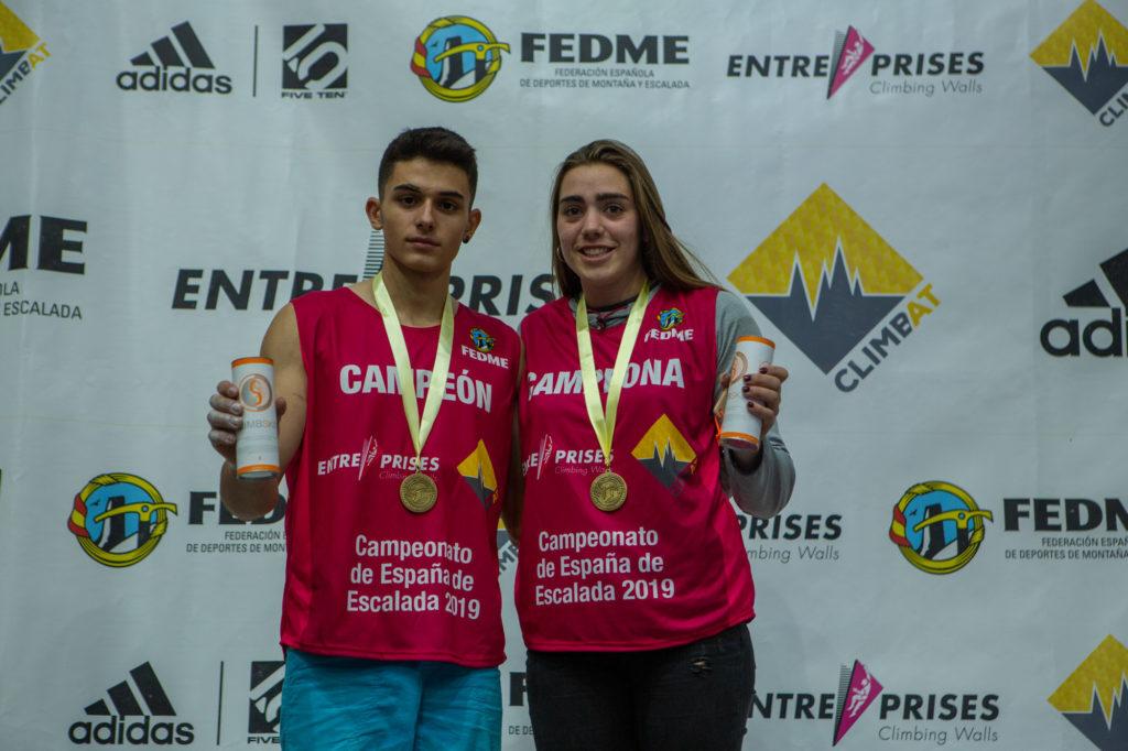 Alberto Ginés y Rut Casas campeones de España de boulder 2019