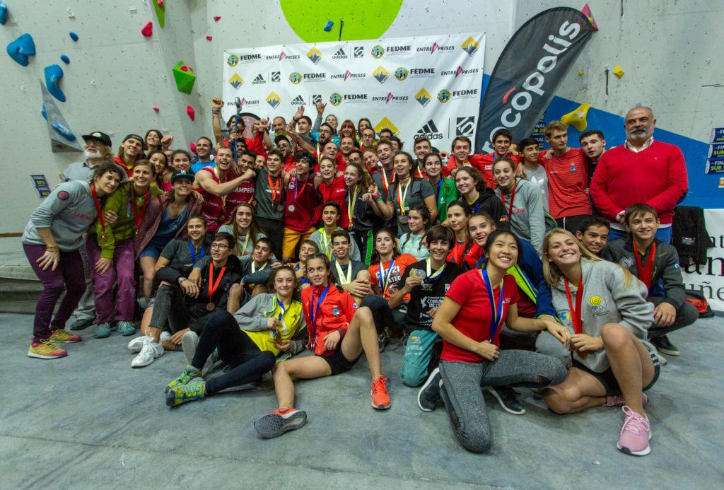 medallistas en dificultad en el Campeonato de España de Escalada 2019