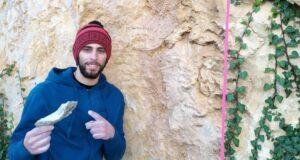Jonatan Flor con una presa rota en Tárbena