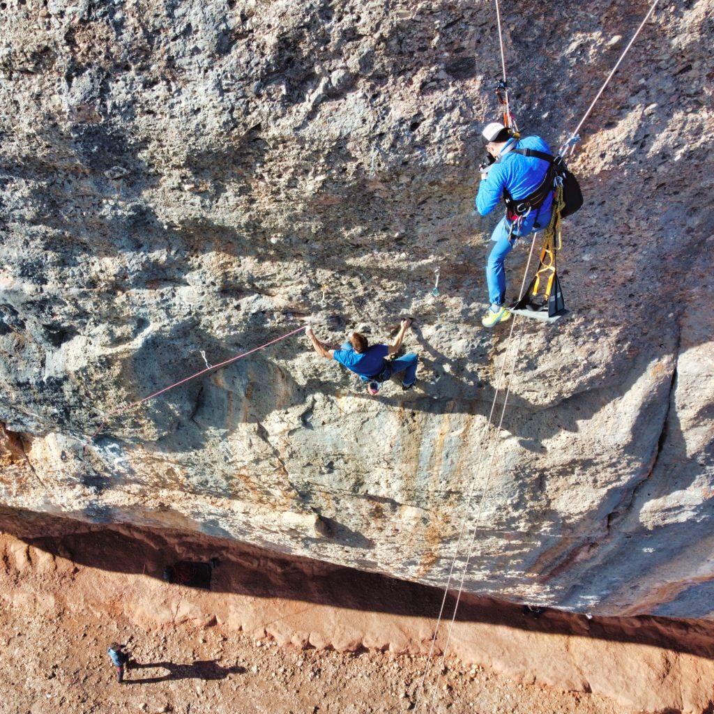 Fotos de escalada desde la pared