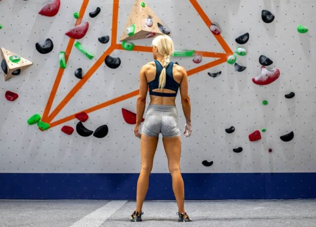 Anna Davey entrenando