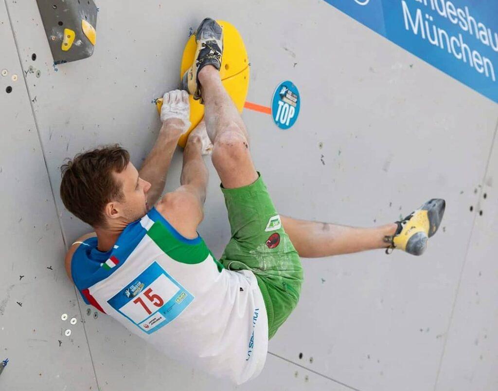 Michael Piccolruaz en una competición