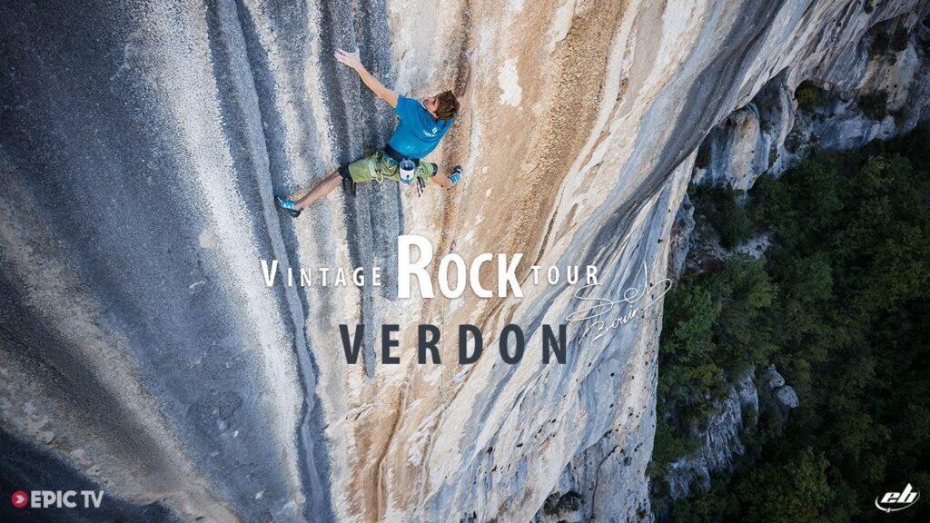 Seb Bouin escalando en el Verdon