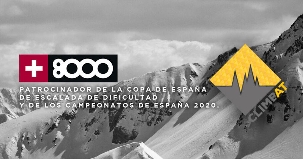 +8000 patrocinador Copa España y Campeonato Dificultad 2020