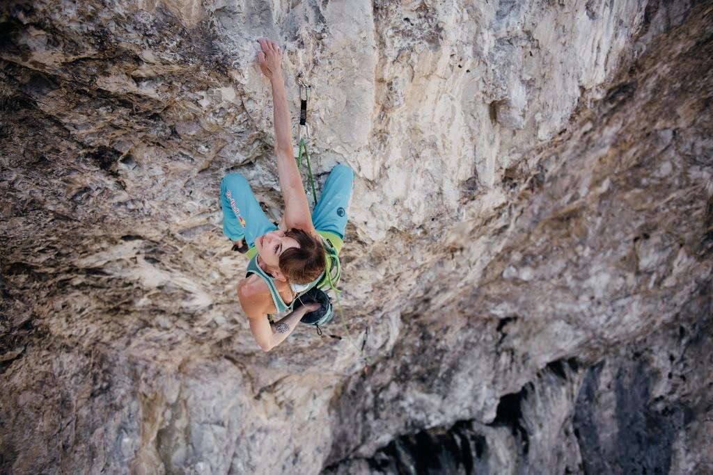 Angy Eiter escalando Schatzinsel