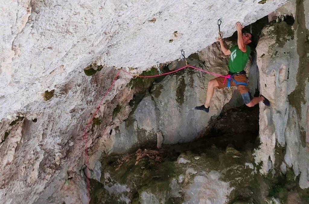 """José Luis Palao """"Primo"""" escalando en Rodellar"""