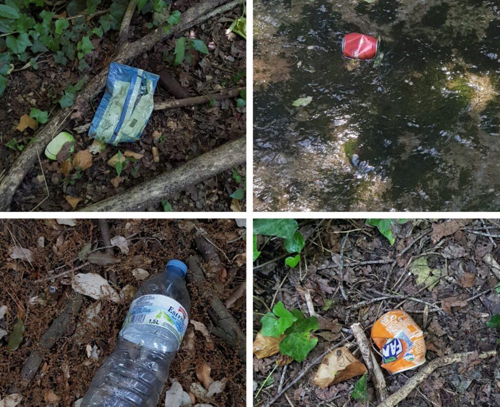 basura en la naturaleza