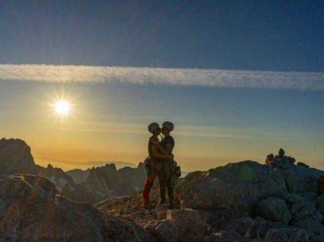 Álex González y Jaume Peiró en la cima del Picu Urriellu