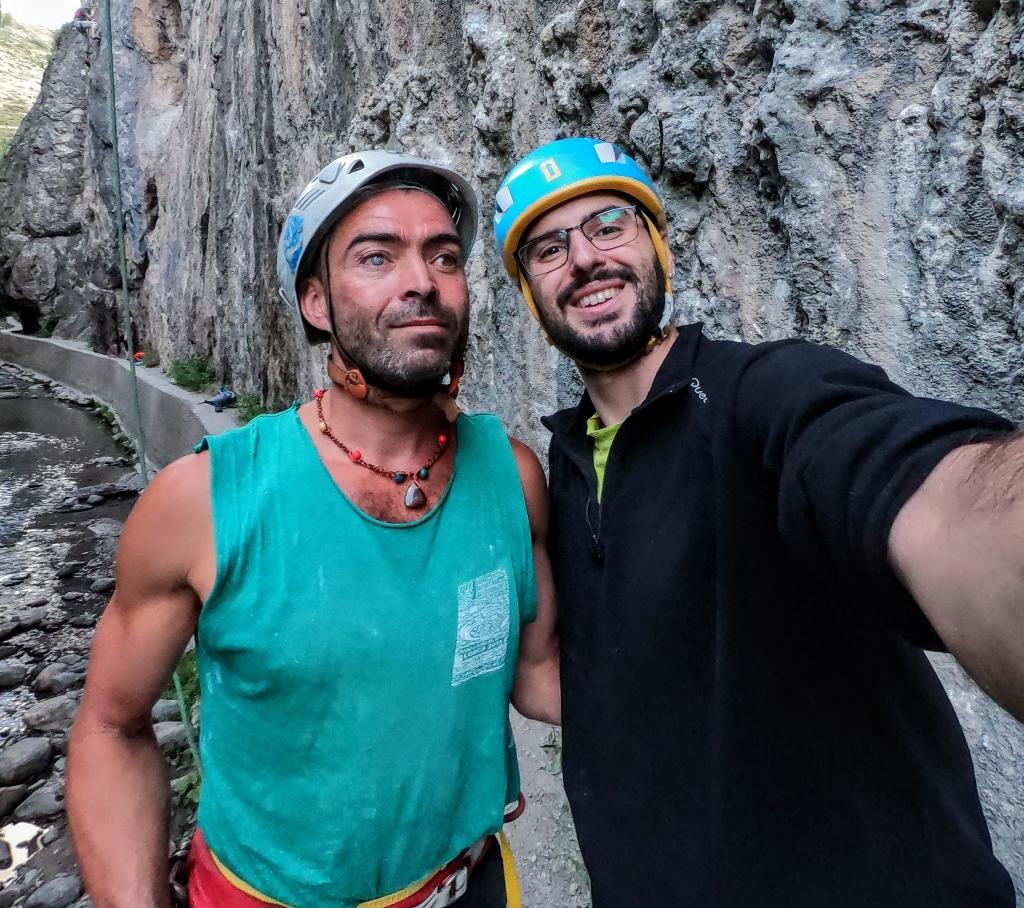 Javier Aguilar y Migue Sancho en Los Cahorros