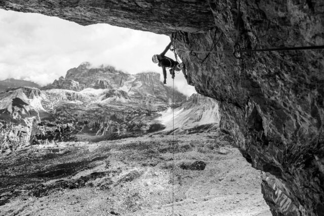 Sébastien Berthe escalando Bellavista