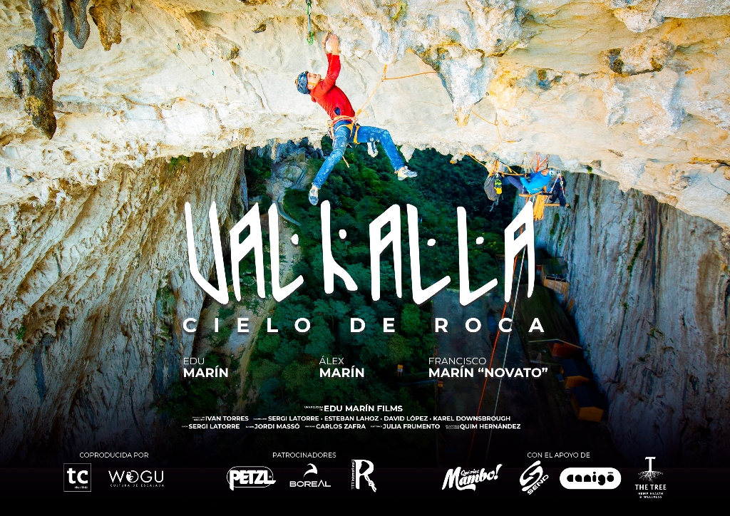 Cartel película Edu Marín, Valhalla, cielo de roca