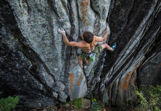 Jimmy Webb en la vía de escalada Empath