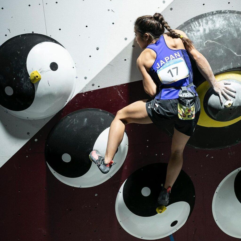 Miho Nonaka en una competición