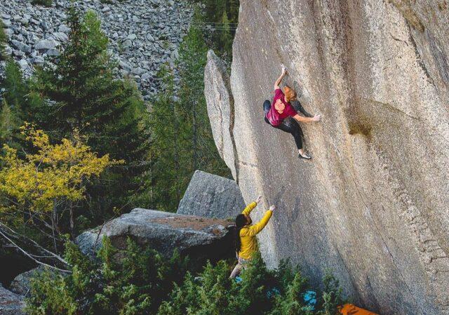 Bernd Zangerl escalando en Valle dell'Orco