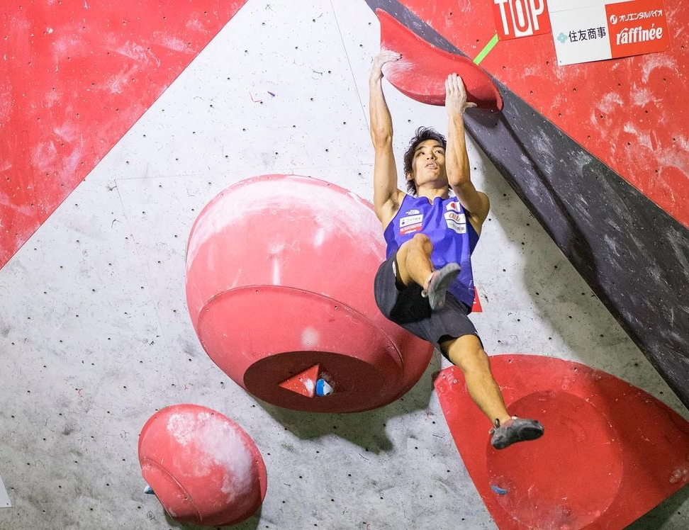 Tomoa Narasaki en una competición