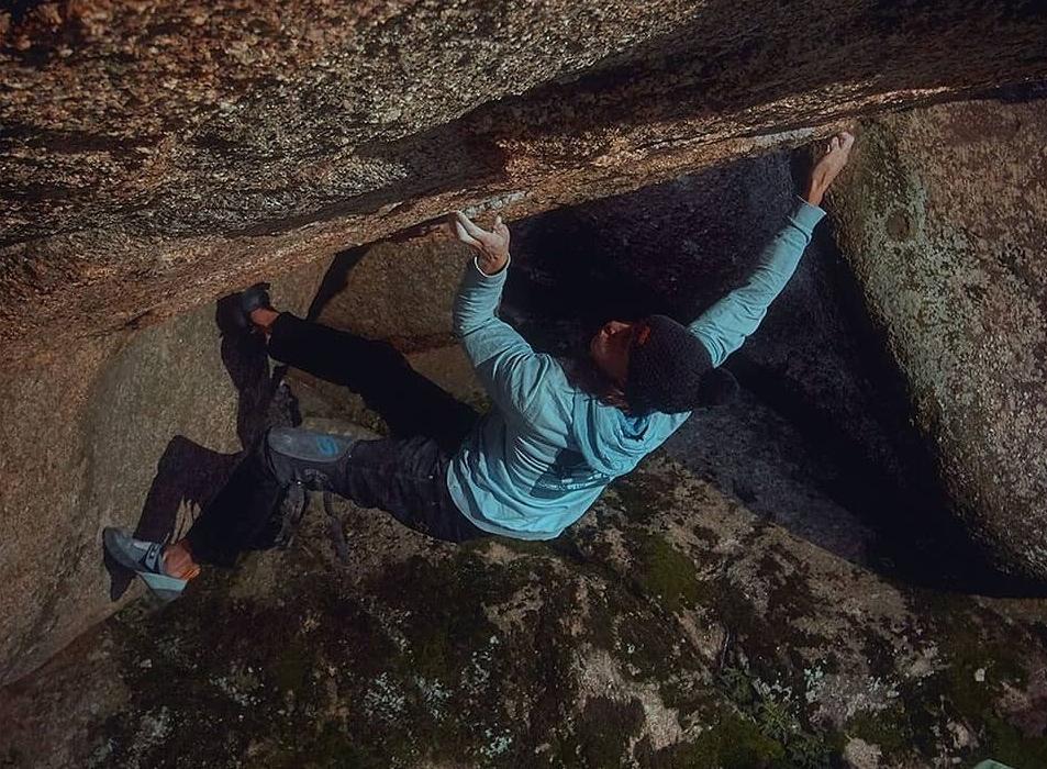 "Juan Alonso ""Osman"" escalando en Torrelodones"