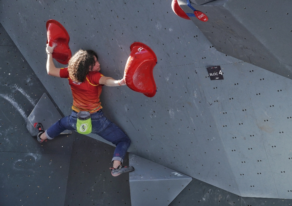 Maria Benach en una competición