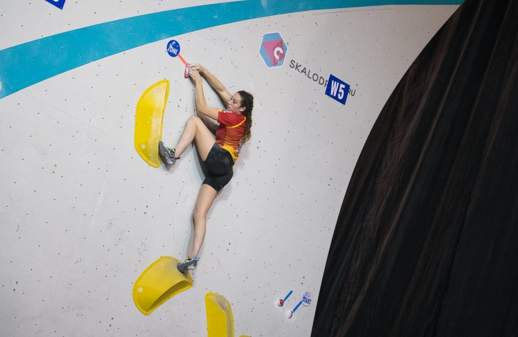 Aida Torres subcamepona de Europa de boulder junior