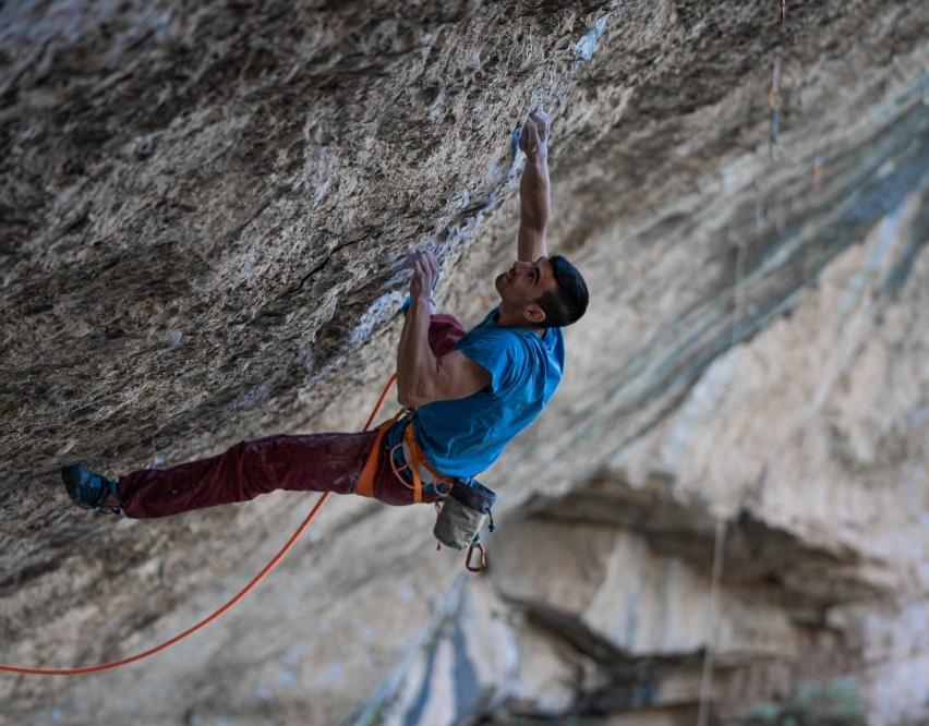 Jorge Díaz-Rullo escalando Mejorando Imagen
