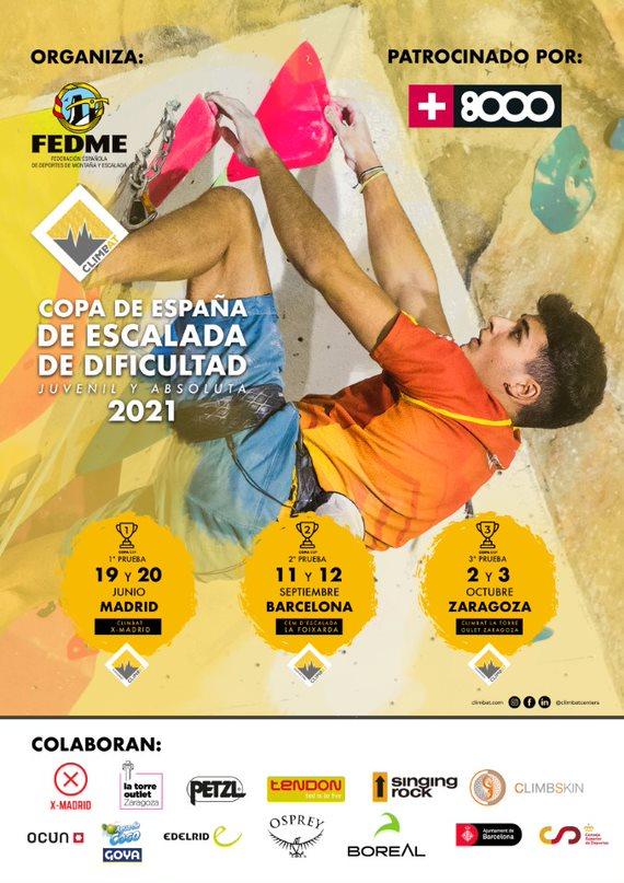 cartel Copa de España de Escalada de Dificultad 2021