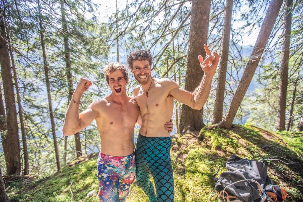 Sébastien Berthe y Siebe Vanhee escaladores de Bélgica