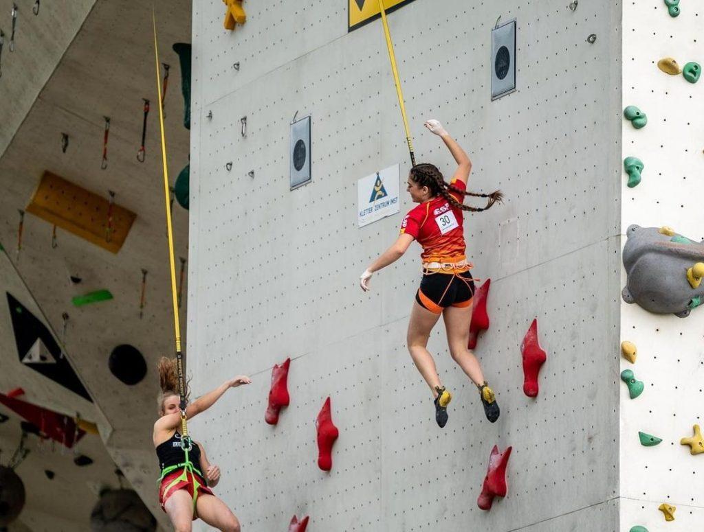 María Laborda escaladora de velocidad