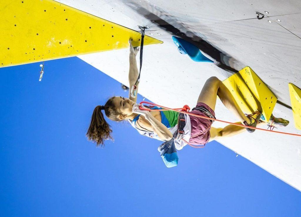 Laura Rogora escaladora