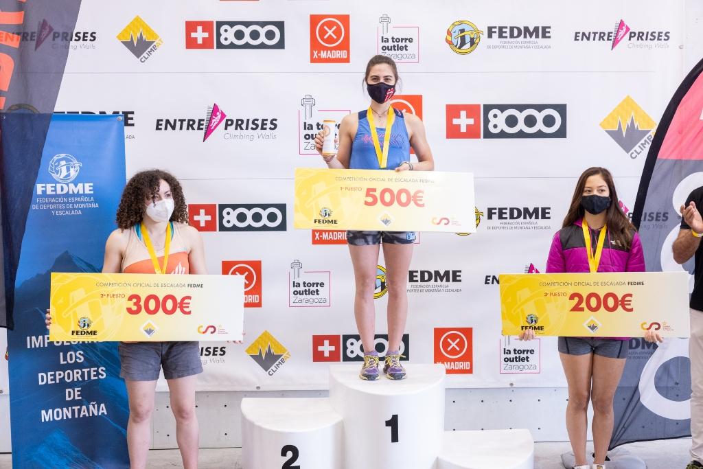 podio femenino Climbat X-Madrid