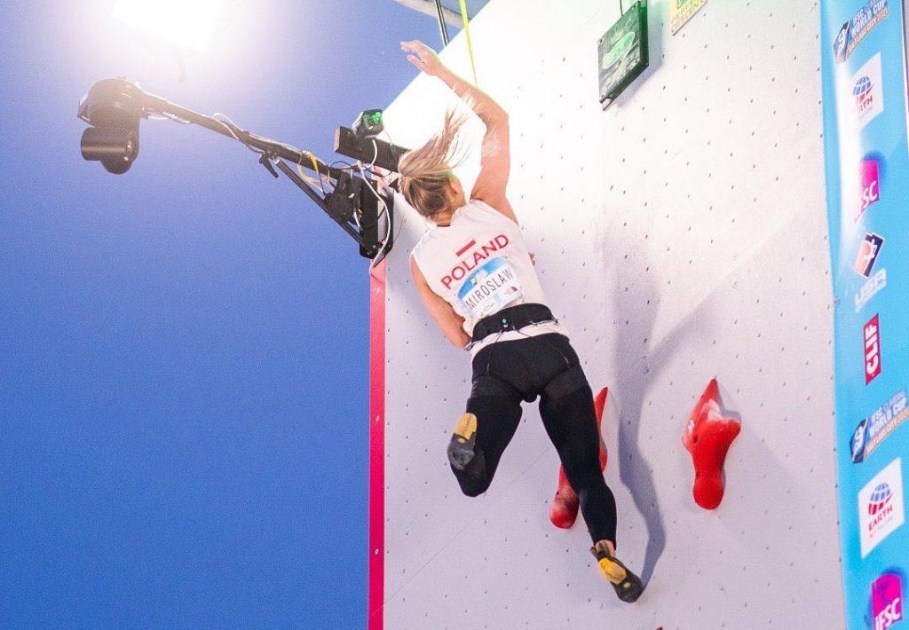 Aleksandra Miroslaw especialista escalada velocidad