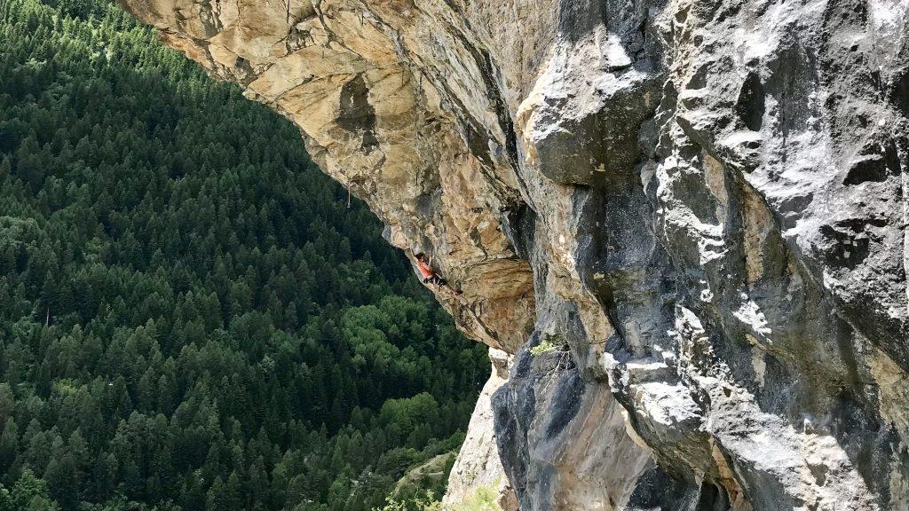Anak Verhoeven escalando en Fournel