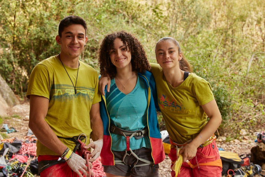 Escaladores en el Rodellar Climbing Festival