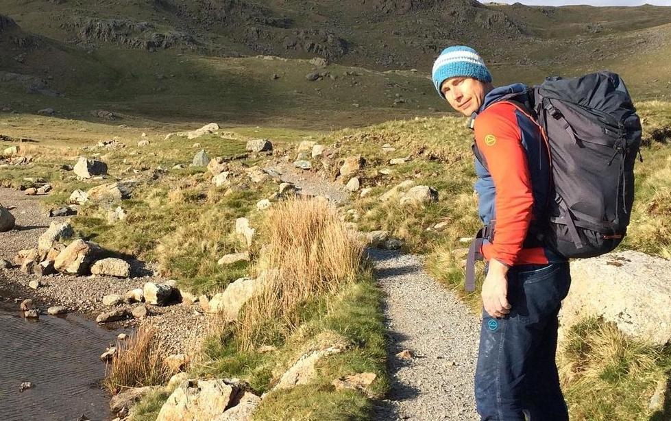 Neil Gresham en el Lake District