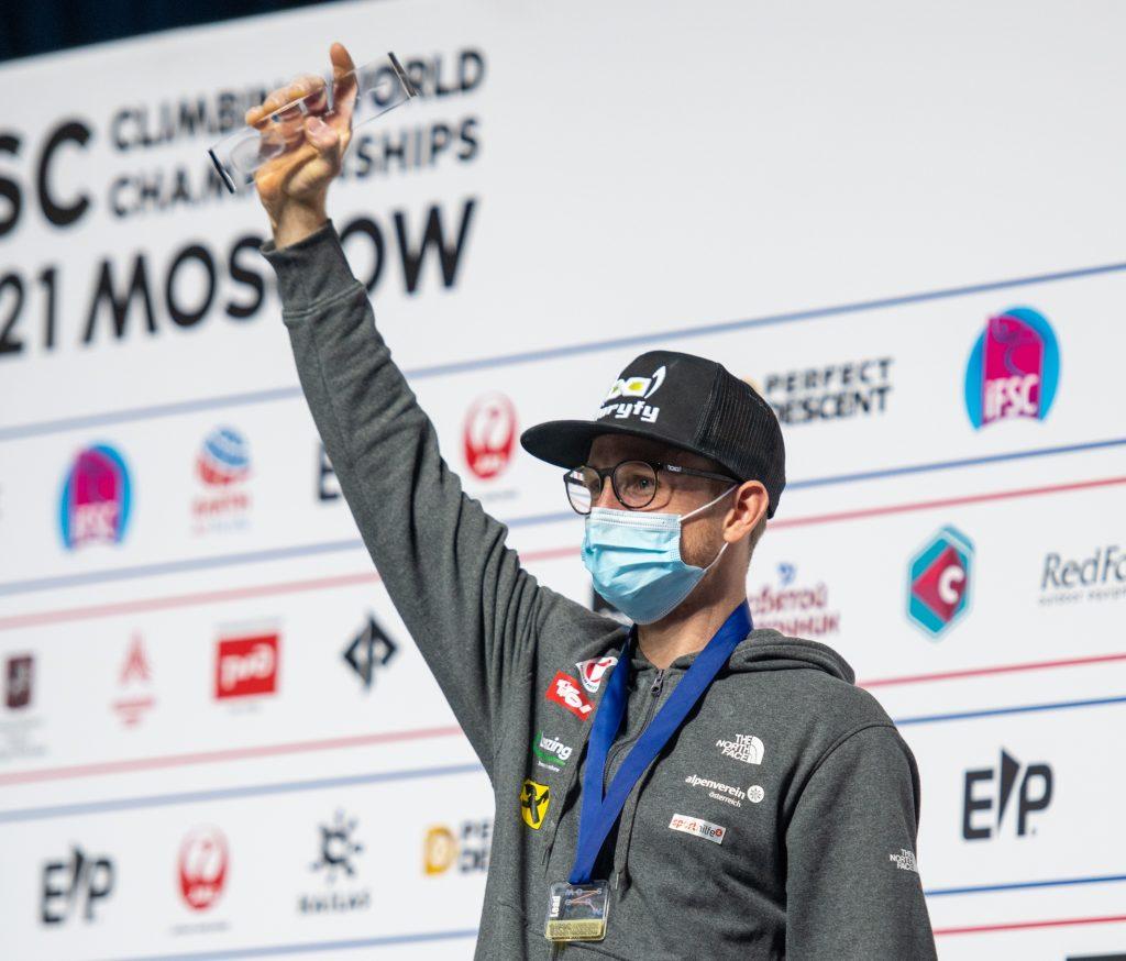 Jakob Schubert campeón del mundo de dificultad 2021